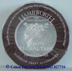 Floristická páska hnedá - šírka 1cm