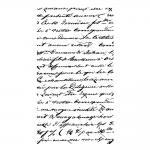 Pečiatka gumená text script